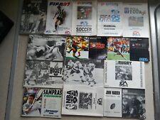 14 Manuals For Sega Mega Drive Games - NO GAME'S MANUAL'S ONLY (PAL)
