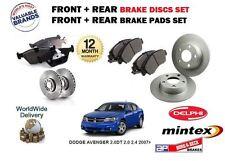 Für Dodge Avenger 2.0DT 2.0 2.4 2007> Vorne & Hinten Bremsscheiben & Bremsbeläge