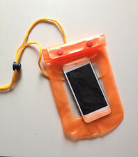 Waterproof ORANGE Pouch for Phone / Camera Keys Money Dry Bag Sports Beach Case