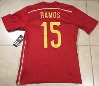 NWT ADIDAS SPAIN S. RAMOS Sz M JERSEY World Cup 2014 match soccer jersey madrid