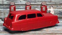 "VTG '55 TOOTSIETOY 3"" Ford Ranch Wagon Red Body (BRW)"