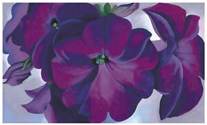 Petunias, 1925 by Georgia O'Keeffe Art Print Purple Flower Floral Poster 11x14