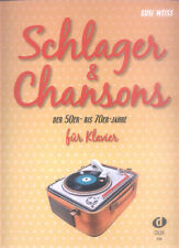 Schlager & Chansons der 50er bis 70er Jahre Songbook Noten für Klavier