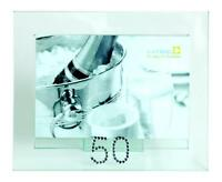 50th Birthday or Anniversary Clear Glass Photo Frame Gift New Boxed 3-920-50
