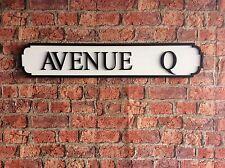 Vintage Wood Street Road Sign AVENUE Q