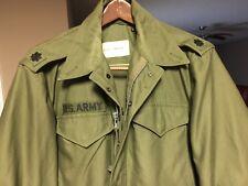 Vtg 50's M1951 Coat Single Breasted Sateen Field Jacket Og-107 Men's Small Short