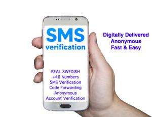 SMS-Code zur Kontobestätigung über die anonyme schwedische +46-Nummer erhalten