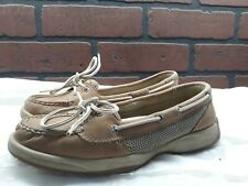 Sperry Beige Brown Top-Sider Lace Up Boat Shoes size 7M  Womens