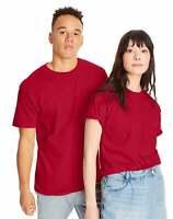 Hanes Mens T Shirt Beefy Adult Pocket 100% Cotton Blank Short Sleeve Plain Chest