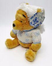 NEW Winter Knit Sweater Winnie the Pooh Plush - Holiday Xmas Disney Store, Rare