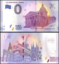 Zero (0) Euro Europe, 2017 - 2 (2nd Print), UNC, Le Pantheon Paris in France