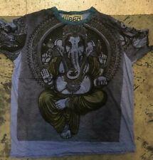 New Men T Shirt Om Ganesha Yoga Lotus Zen Hippie Peace cotton Sure L Rare Weed