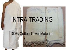 Men's IHRAM for Hajj and Umrah Ehram Ahram 2 White Cotton Towels Adult Size NEW