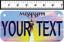 PERSONALIZED ALUMINUM MOTORCYCLE STATE LICENSE PLATE-MISSISSIPPI