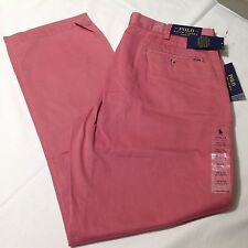 Polo Ralph Lauren Classic Fit Flat Men Pants Chino Vintage Red 34x30 NWT $89.50