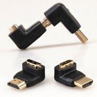 HDMI Male to Female Angle Port Saver Adapter Connector 90 or 270 Degree Cmple