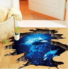 3D Wandtattoo Wand Boden Aufkleber Delphin Wandsticker Delfine Meer Unterwasser