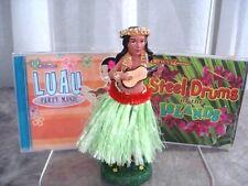 Luau Party Music + Hula Dancer Doll Two CD's Hawaiian Music VGC Luau Tiki Party