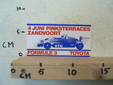 STICKER,DECAL TOYOTA FORMULE 3 4 JUNI PINKSTERRACES ZANDVOORT B