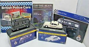 1/43 Police Jaguar Mk11, Austin J2 Van, Police Cars Book & On The Beat DVD (1989