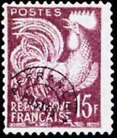 "FRANCE PREOBLITERE TIMBRE STAMP YVERT N° 112  ""  COQ GAULOIS 15F "" NEUF (x) TTB"