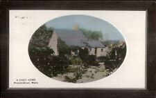 Provincetown Cape Cod MA A Cozy Home c1910 Real Photo Postcard - Tinted