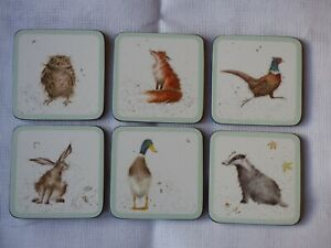 """Wrendale """"Country Set"""" 6 coasters by Pimpernel"""