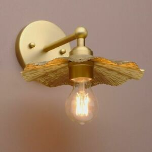 PATHSON MINI RETRO INDUSTRIAL WALL SCONCE METAL LAMPSHADE ANTIQUE BRASS LIGHTING