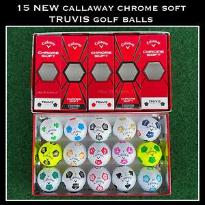 15 NEW Callaway Chrome Soft TRUVIS Golf Balls - UNIQUE RARE Multi-Color Designs