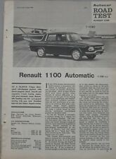 1966 Renault 1100 Original Autocar magazine road test