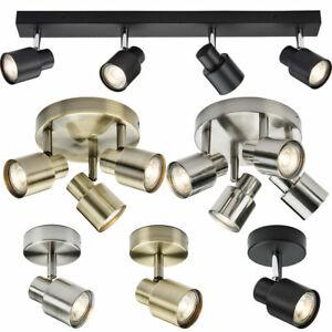 Knightsbridge Adjustable Ceiling Spotlight LED GU10 Kitchen Light Fitting Bulbs