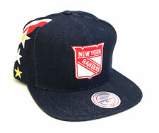 New York Rangers Mitchell and Ness Denim Stars and Stripes Snapback Hat