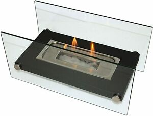 Portable Bio Ethanol Fireplace Tabletop Indoor Outdoor Heater Real Flame