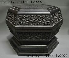 Old Chinese Rosewood Wood Hand-carved Dragon Dragons Animal Storage Box Boxes