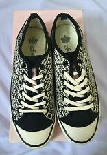 AUTH.BNIB JUICY COUTURE WOMENS DEANNA BLACK LACE UP SNEAKERS SHOES SZ 7.5