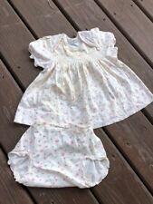 Vintage Baby Clothes Carter's Panti-Dress Matching Panties  1 Yr Rosebud