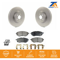 Front Coated Disc Rotors & Semi-Metallic Brake Pads For Subaru Outback Forester
