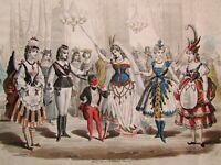 Guido Gonin (1833-1906) Stampa antica Ottocento 1873 Figure e costumi parigini