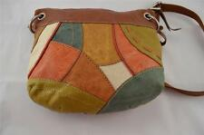 FOSSIL Chestnut & Patchwork Leather Liberty Shoulder Bag - PREOWNED