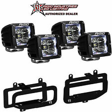 Rigid Radiance LED Fog Light w/ White Backlight for 10-15 Dodge Ram 2500 3500