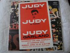JUDY GARLAND JUDY AT CARNEGIE HALL LIVE 2X VINYL LP 1961 CAPITOL RECORDS MONO