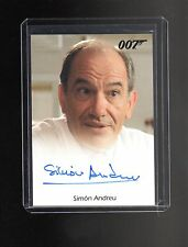 James Bond 50th Anniversary Simon Andreu auto card