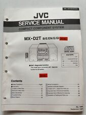 MX-D2T original JVC Compact Component System, HI-FI Anlage Service Manual neu