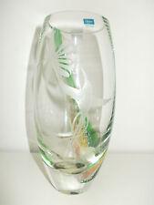 Caithness Scotland Kristall Vase mit Kolibri Höhe 20 cm Handarbeit