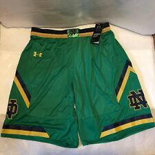 Notre Dame Fighting Irish Under Armour Authentic Basketball Shorts Large Green
