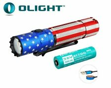 New Olight M2R Pro Warrior Patriotic USB Charge 1800Lumens LED Flashlight
