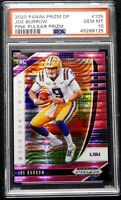 "2020 Prizm Pink Pulsar DP PSA 10 GEM MINT Joe Burrow Rookie #105 ""Flawless"""
