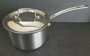Cuisinart Chefs Classic 3 Qt. Sauce Pan Stainless Steel Saucepan w/Lid ~ HG837s