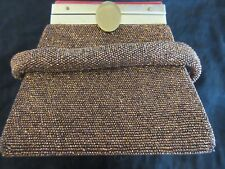 Vintage Art Deco Copper Lame, Lucite/Bakelite Handbag/Purse/Pocket Book