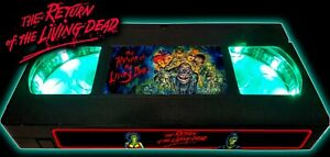 Return of the Living Dead (1985) - Retro VHS Lamp +Remote Control - 80s Zombie